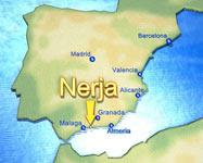Karta över Nerja