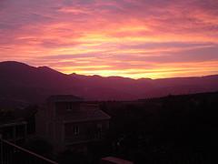 Solnedgång byn Chite