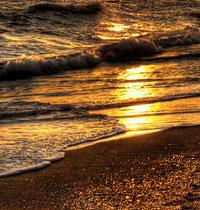Strand någonstans på Solkusten