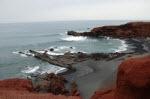 Hav och vulkaniskt område möts