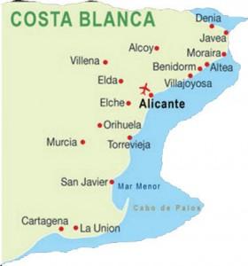 Karta Costa Blanca