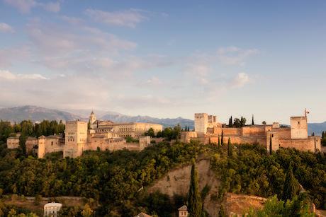 Alhambra solnedgång