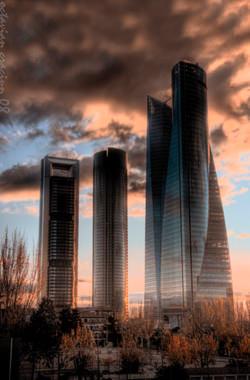 Skyskrapor Madrid