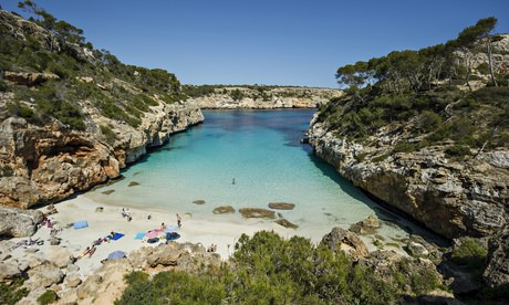 The beach at Santanyí, southern Mallorca.