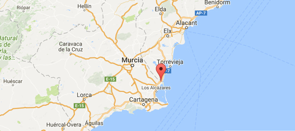 Karta Pa Spansk.Karta San Pedro De El Pinatar Spanska Fastigheter