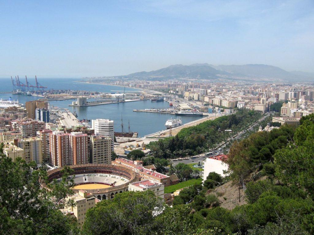 Utsikt över Malaga skyline