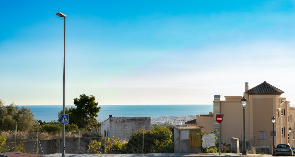 Tomten Colina de Alta Nerja - utsikt över havet