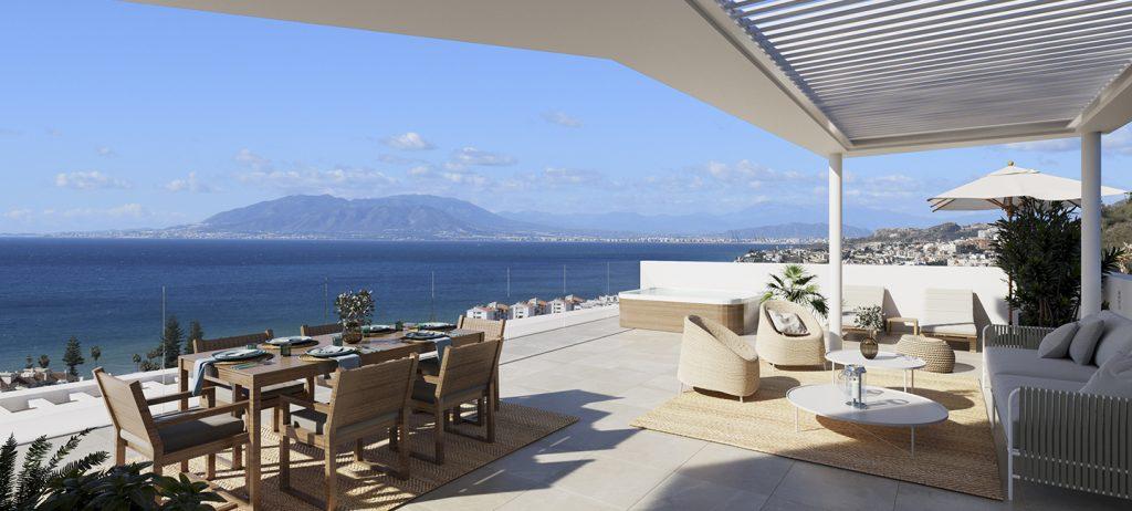 Utsikt från lägenheter i Idilia Rincon